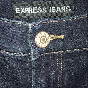 Express 8 High Rise Leggings Jeans Blue